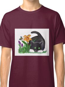Bee and Kitten in Spring Garden Classic T-Shirt