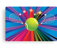 Tennis Ball and Racket 3 Canvas Print