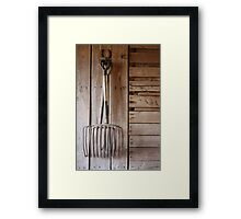 forked (untouched) Framed Print