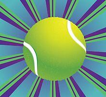 Tennis Ball Background 2 by AnnArtshock