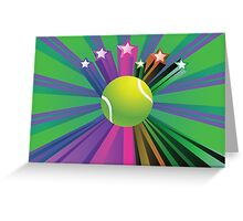 Tennis Ball Background 2 Greeting Card