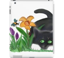 Bee and Kitten in Spring Garden iPad Case/Skin