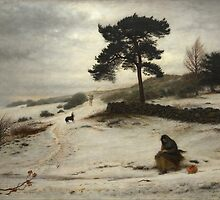 John Everett Millais  (1829 - 1896) -  Blow Blow Thou Winter Wind c 1892 by Adam Asar