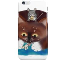 Mouse and Kitten Eat Popcorn iPhone Case/Skin