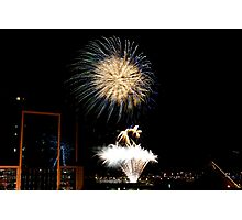 New Years Eve Fireworks 1 Photographic Print
