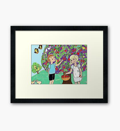The Love Pickers computer version Framed Print