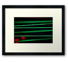 Genius or insanity Framed Print
