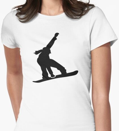 Snowboard girl Womens Fitted T-Shirt