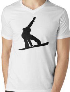 Snowboard jump Mens V-Neck T-Shirt