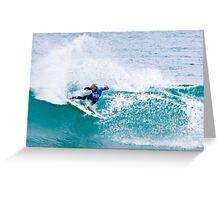 Kelly Slater Speed Blur Blue vest. Greeting Card