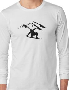 Mountains snowboarding Long Sleeve T-Shirt