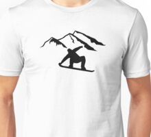 Mountains snowboarding Unisex T-Shirt