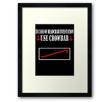 Half Life - Crowbar Framed Print