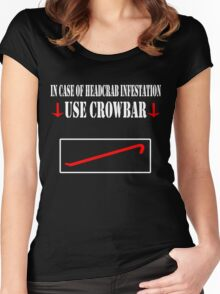 Half Life - Crowbar Women's Fitted Scoop T-Shirt