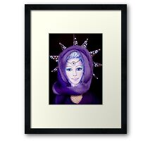 Lady Of The Fountain Doll Framed Print