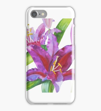 Firebolt Lily Watercolor iPhone Case/Skin