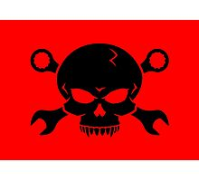 Skull 'n' Tools - Screw Pirate 2 (black) Photographic Print