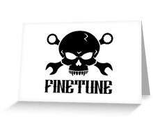 Skull 'n' Tools 2 - Finetune (black) Greeting Card