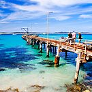 Walking along Vivonne Bay Jetty  by Elana Bailey