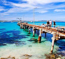 Walking along Vivonne Bay Jetty  by Elana Bailey