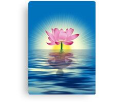 Lotus Reflecting Yoga Canvas Print