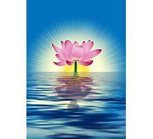 Lotus Reflecting Yoga Photographic Print