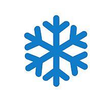 Blue snow symbol Photographic Print