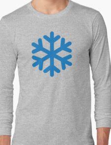 Blue snow symbol Long Sleeve T-Shirt