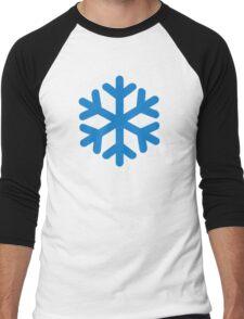 Blue snow symbol Men's Baseball ¾ T-Shirt