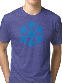 Blue snow symbol Tri-blend T-Shirt
