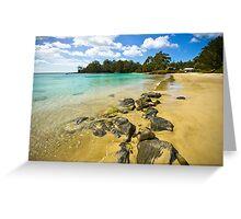 Catamaran Rocks Greeting Card