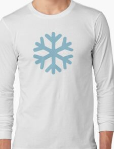 Blue snow icon Long Sleeve T-Shirt