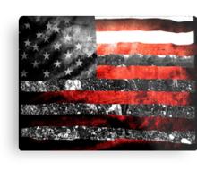 We Built it Flag Metal Print