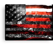 We Built it Flag Canvas Print
