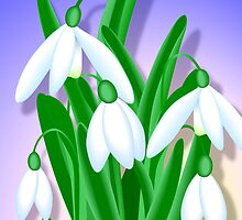 Snowdrops Bouquet by lydiasart