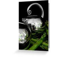 Still life with asparagus Greeting Card