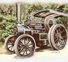 Burrell Steam Traction Engine by Pamela Saville