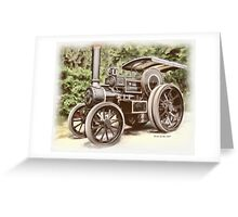 Burrell Steam Traction Engine Greeting Card