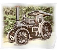 Burrell Steam Traction Engine Poster