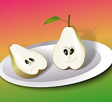 Pear Cartoon by lydiasart