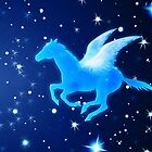 Flying Pegasus by lydiasart