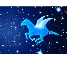 Flying Pegasus Photographic Print
