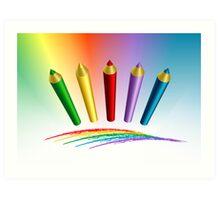 Color Pencils Art Print