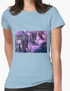Buddhas purple Womens Fitted T-Shirt
