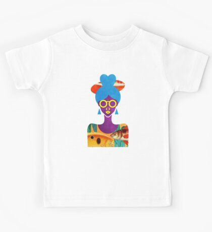 Girl with Sea Monster Shirt Kids Tee