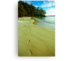 Leave Nothing But Footprints Canvas Print
