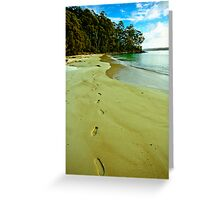 Leave Nothing But Footprints Greeting Card