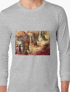 Buddhas red Long Sleeve T-Shirt