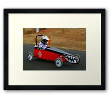 Billy Cart Derby - Mia Framed Print