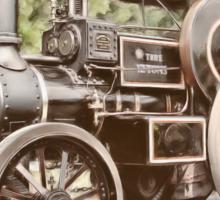 Burrell Steam Traction Engine Sticker